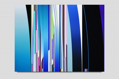 Penumbra 2019 acrylic on two canvases 60 x 80 inches