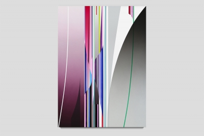 Gossamer 2020 acrylic on canvas 55 x 40 inches