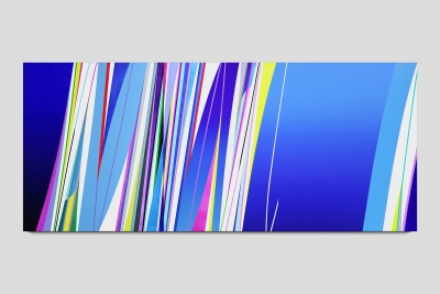 Kite 2018 acrylic on two canvases 48 x 112 inches