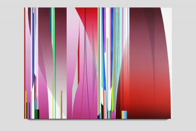 Mirage 2019 acrylic on two canvases 60 x 80 inches
